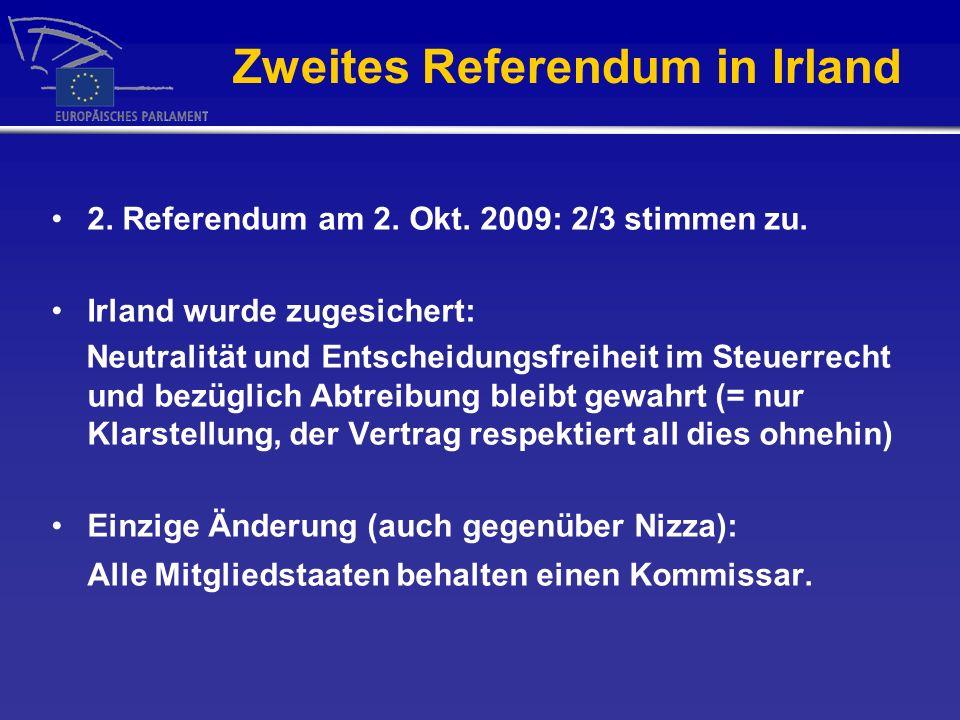 Zweites Referendum in Irland 2.Referendum am 2. Okt.