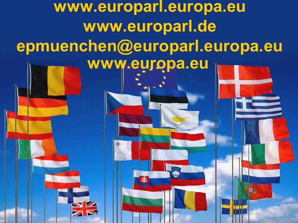 www.europarl.europa.eu www.europarl.de epmuenchen@europarl.europa.eu www.europa.eu