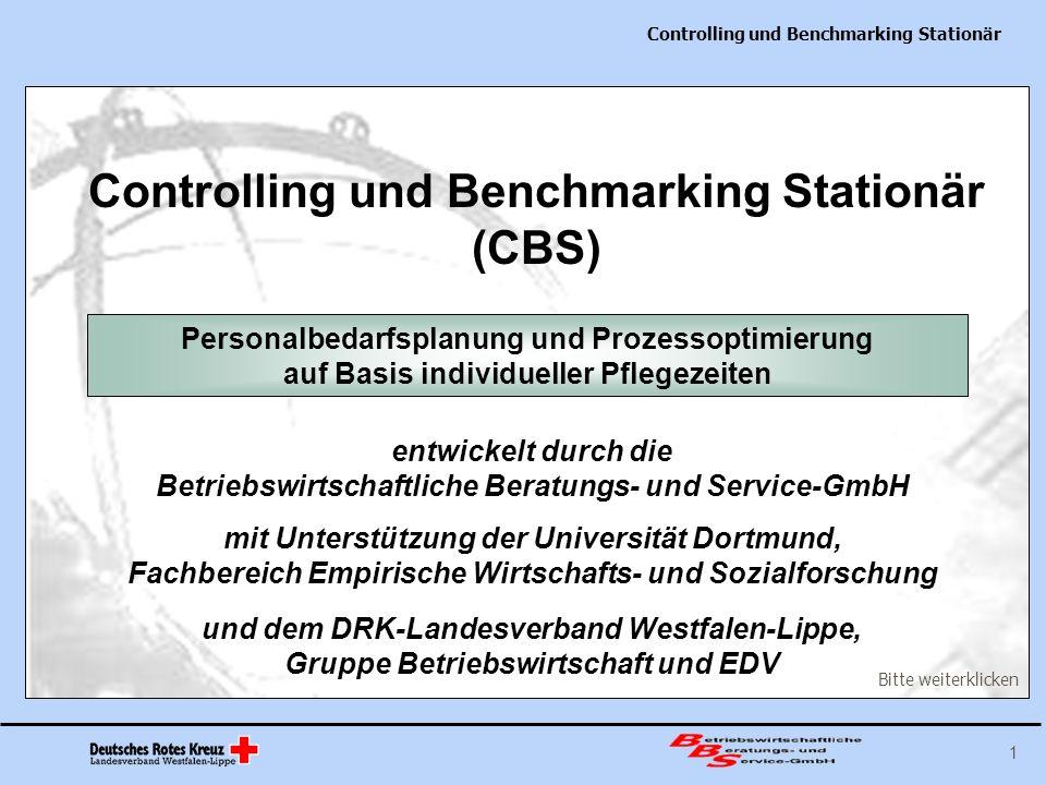 Controlling und Benchmarking Stationär 12 Erfahrungen aus den Pflegezeiterhebungen Das kombinierte System von bewohner- und mitarbeiterbezogener Zeitaufschreibung steigert die Validität der Zeiterhebung.