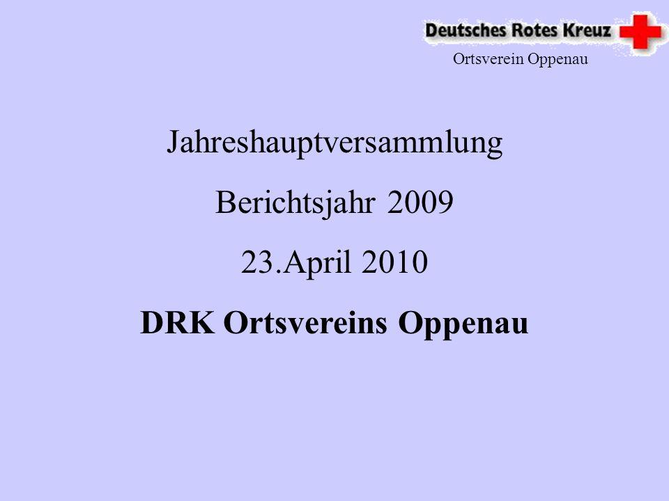 Ortsverein Oppenau Geplantes 2010 Ausbildungen in den Bereichen : SAN 1 / SAN 2 Erstehilfeausbildung Realistische Unfalldarstellung Jugendgruppenleitung 3.