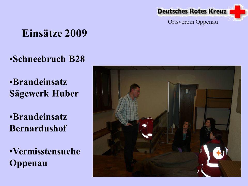 Ortsverein Oppenau Bereitschaftsarbeit 2009 Dienst in Lautenbach auf dem Hüttenwandertag Weiter Dienste Fasnacht Sportfest Stadtfest BawüOpen Walholzlauf Und vieles mehr