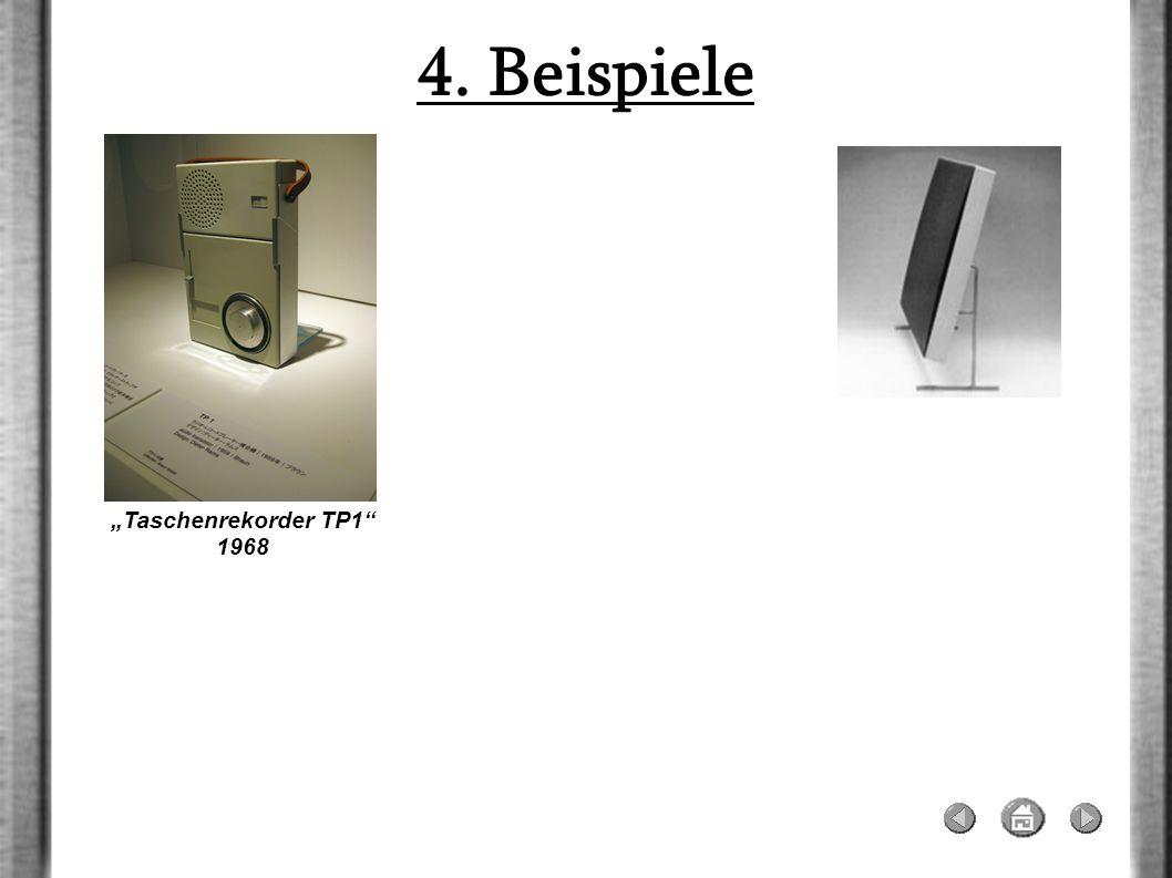 4. Beispiele Taschenrekorder TP1 1968