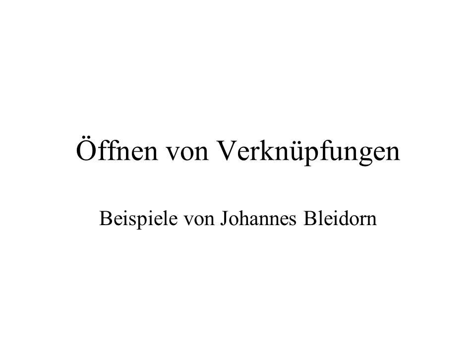 Öffnen von Verknüpfungen Beispiele von Johannes Bleidorn