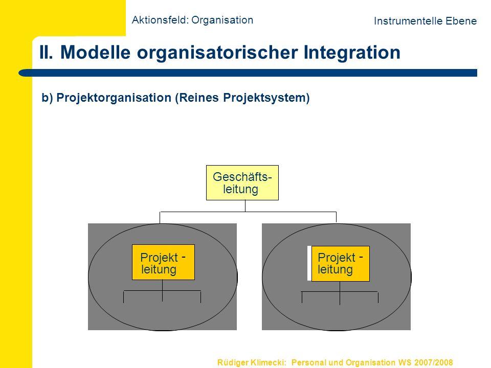 Rüdiger Klimecki: Personal und Organisation WS 2007/2008 II. Modelle organisatorischer Integration b) Projektorganisation (Reines Projektsystem) Instr