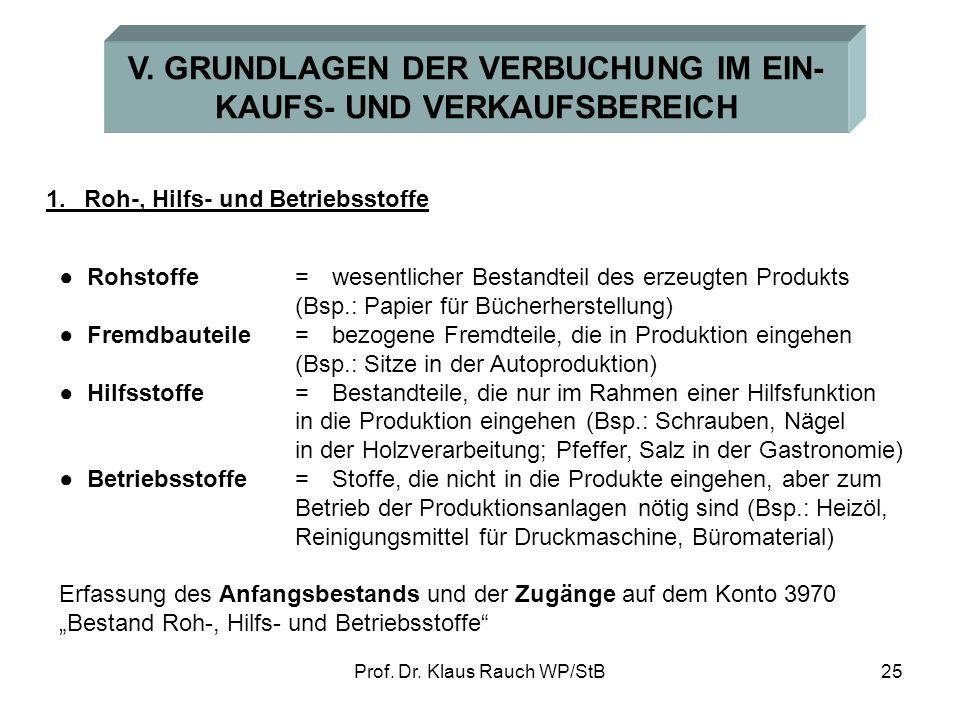 Prof.Dr. Klaus Rauch WP/StB25 V.