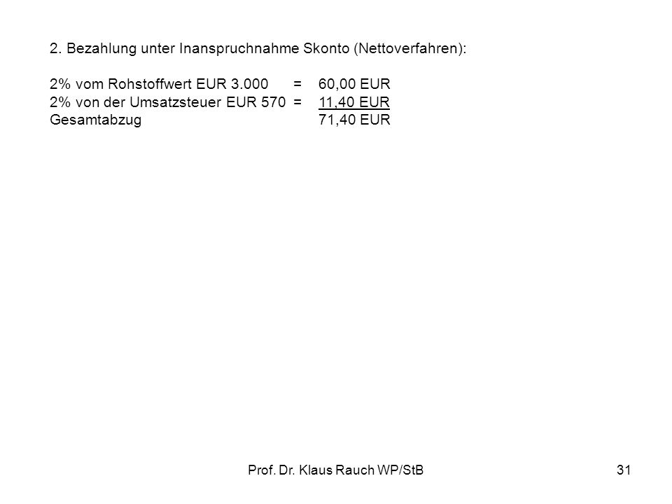 Prof.Dr. Klaus Rauch WP/StB31 2.