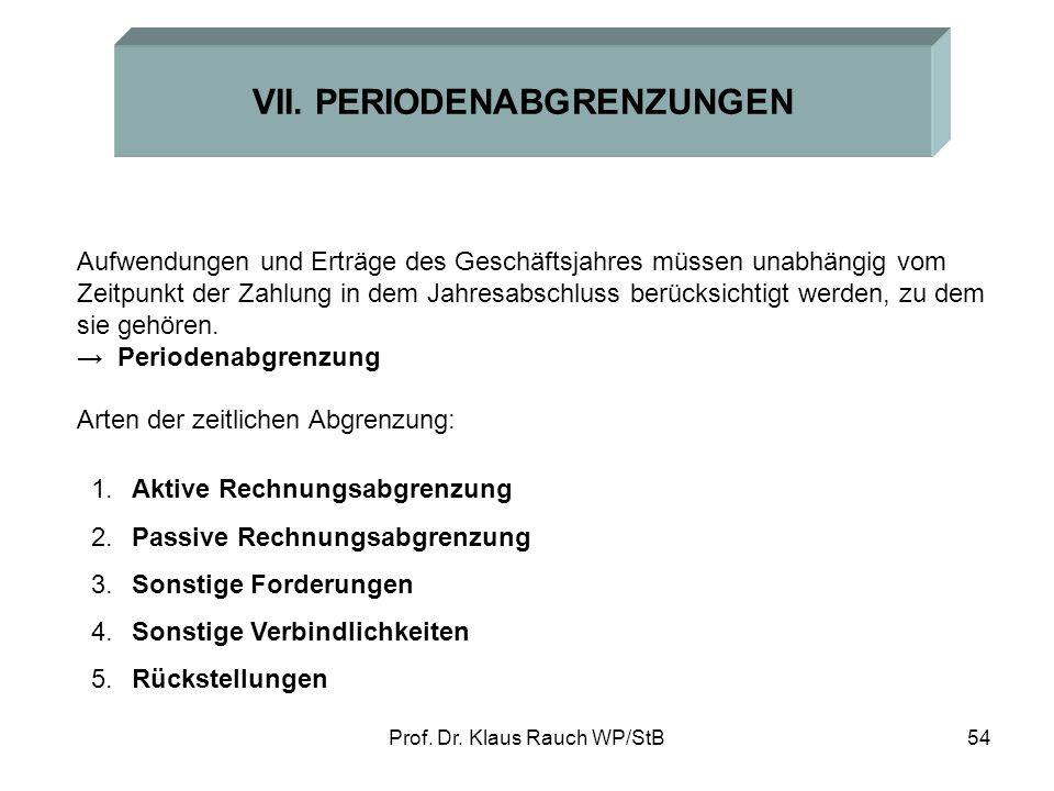 Prof.Dr. Klaus Rauch WP/StB54 VII.