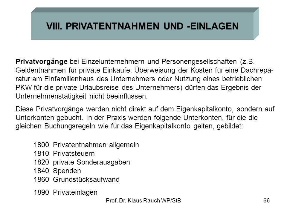 Prof.Dr. Klaus Rauch WP/StB66 VIII.