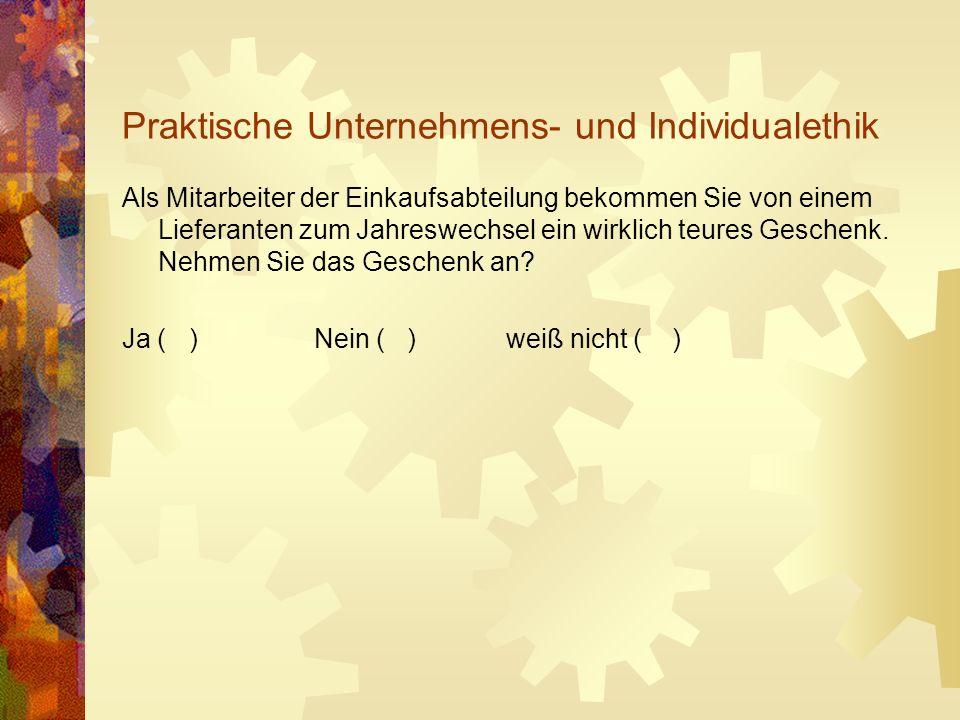 Unternehmensleitbild - Unternehmensethik - sog.