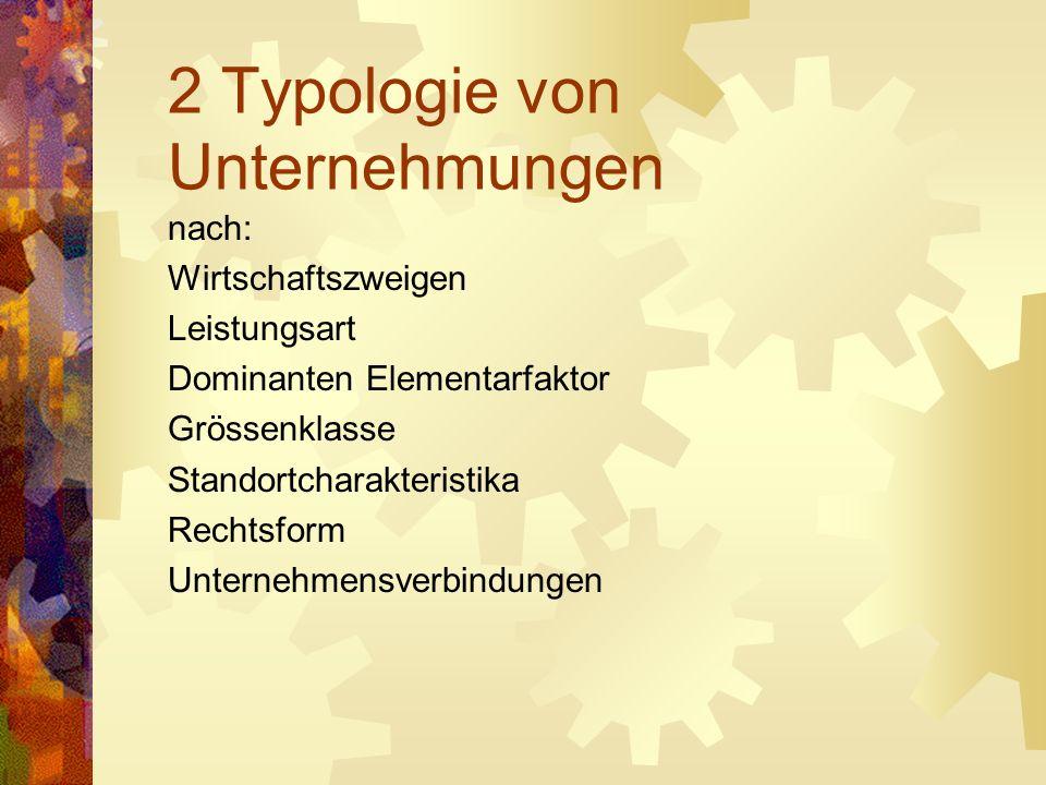 Unternehmen nach Größenklassen (nach Wöhe).