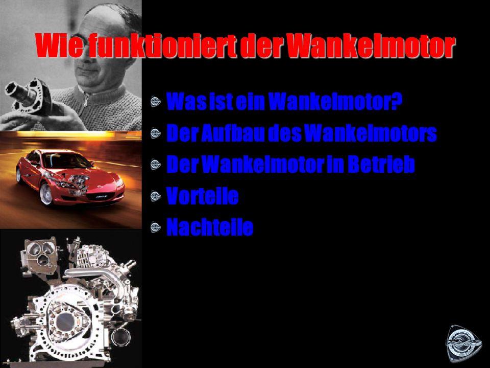 Felix Wankel und Kreiskolbenmotor Am 19.01.1960 wird der Wankelmotor der Öffentlichkeit vorgestellt. Das erste Auto mit Kreiskolbenmotor ist der NSU P