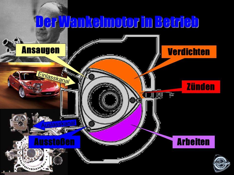 Der Aufbau des Wankelmotors Kreiskolben Exzenterwelle Mantel Scheibe