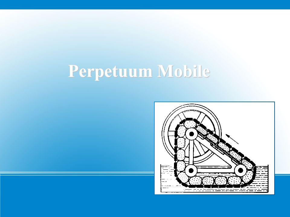 Perpetuum Mobile – Allgemeine Fakten Es wird mit PM abgekürzt Das Wort kommt vom Lateinischen und heißt sich ständig Bewegendes Es ist eine Konstruktion, die sich ständig weiterbewegen soll Perpetuum Mobile mit Wasserrad (Quelle: Wikipedia)