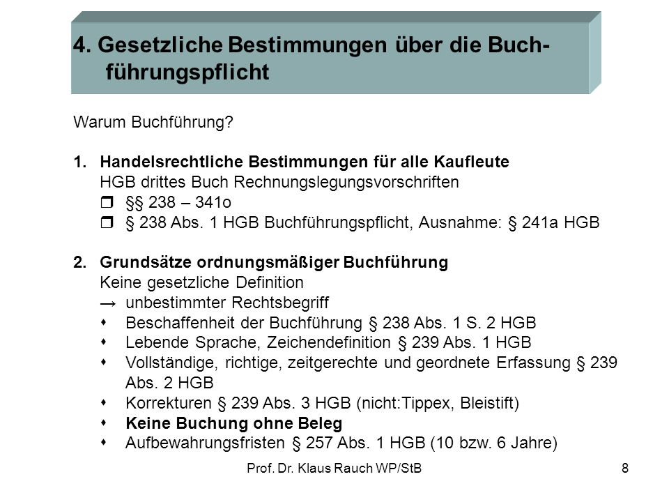 Prof.Dr. Klaus Rauch WP/StB8 4.