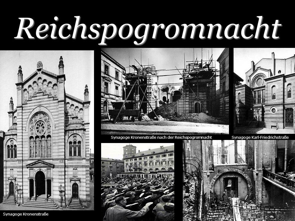 Reichspogromnacht Synagoge Kronenstraße Synagoge Karl-FriedrichstraßeSynagoge Kronenstraße nach der Reichspogromnacht