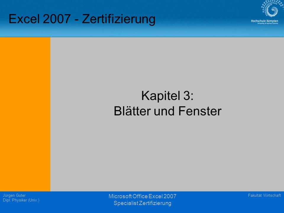 Fakultät WirtschaftJürgen Guter Dipl.