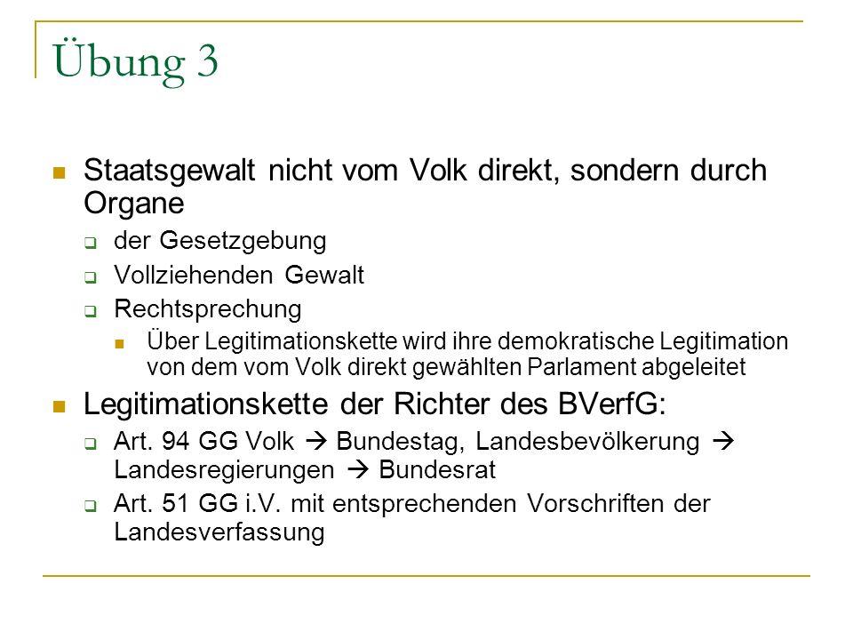 Übung 4 Parteien wirken bei politischen Willensbildung des Volkes mit (Art.
