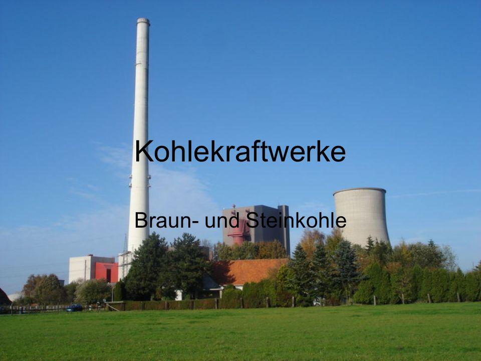 Kohlekraftwerke Braun- und Steinkohle