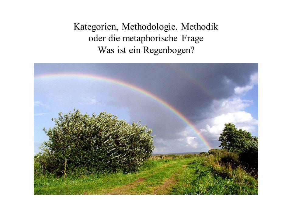 Kategorien, Methodologie, Methodik oder die metaphorische Frage Was ist ein Regenbogen?