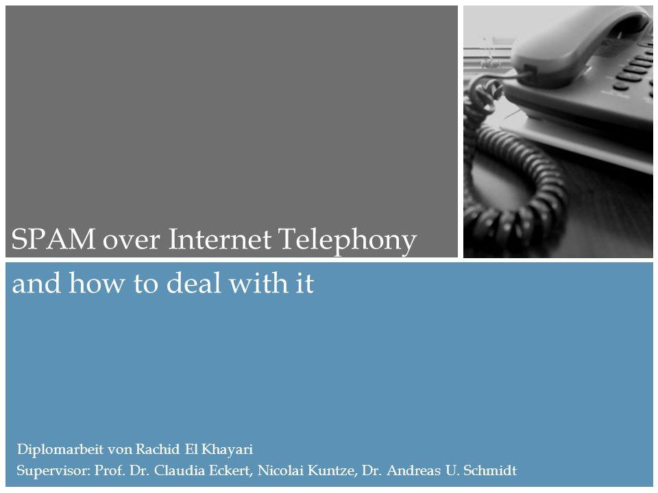 SPIT Abwehrmechanismen Honey Phones Können als Teil von Intrusion Detection Systems betrachtet werden Teil eines VoIP Netzwerks, dass nicht von normalen Usern erreicht werden kann – z.B.