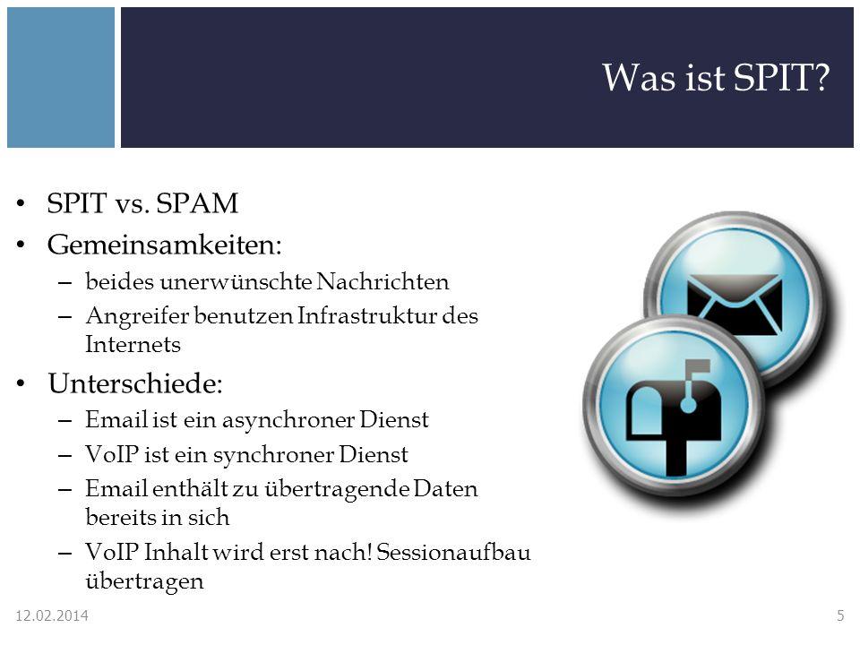 SPIT Abwehrmechanismen Turing Tests - Schwächen Audio CAPTCHA kann an einen Menschen weitergeleitet werden CAPTCHA Relay Attacke: – Wenn CAPTCHA erkannt wird, Anruf weiterleiten – Hilfsarbeiter lösen CAPTCHAs (Länder mit niedrigen Lohnkosten) – oder eine high traffic Seite aufsetzen (z.B.