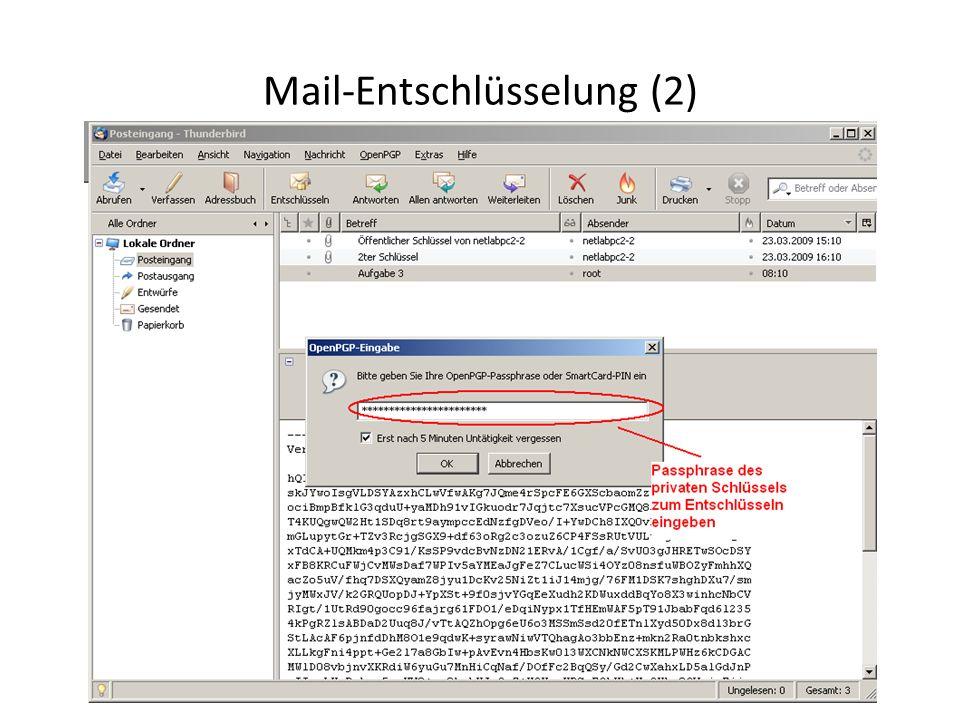 Mail-Entschlüsselung (2)