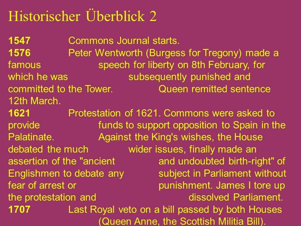 Historischer Überblick 3 1806 Cobbett s Parliamentary History appears.