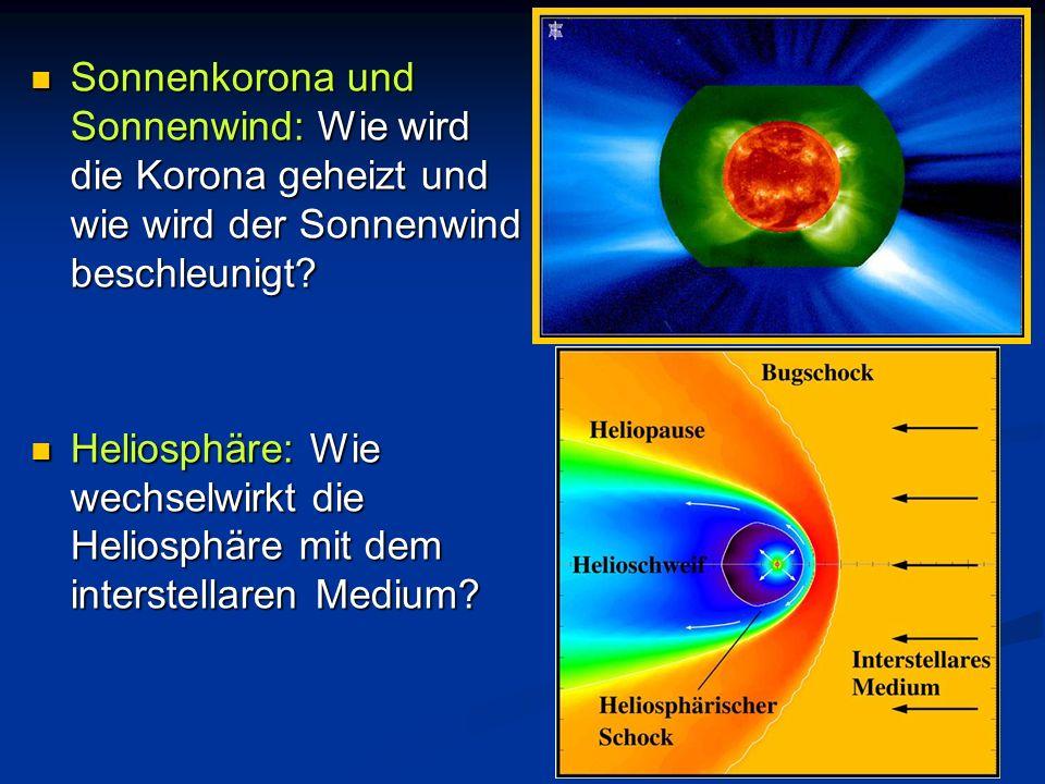 Sonnenkorona und Sonnenwind: Wie wird die Korona geheizt und wie wird der Sonnenwind beschleunigt? Sonnenkorona und Sonnenwind: Wie wird die Korona ge