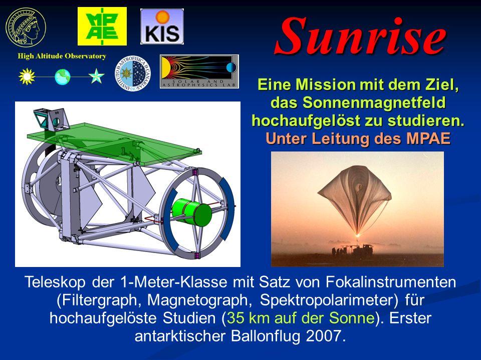 Sunrise Eine Mission mit dem Ziel, das Sonnenmagnetfeld hochaufgelöst zu studieren.