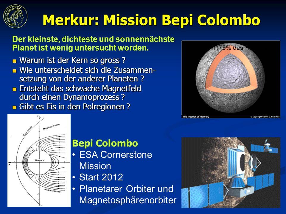 Merkur: Mission Bepi Colombo Warum ist der Kern so gross .