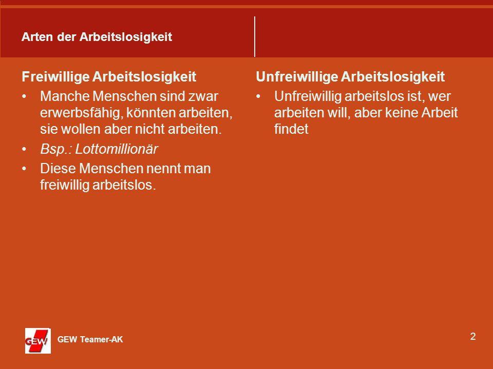 3 Erfasste und nicht erfasste Arbeitslosigkeit In Deutschland gilt nur derjenige als arbeitslos, die sich arbeitslos gemeldet haben und somit erfasst sind.