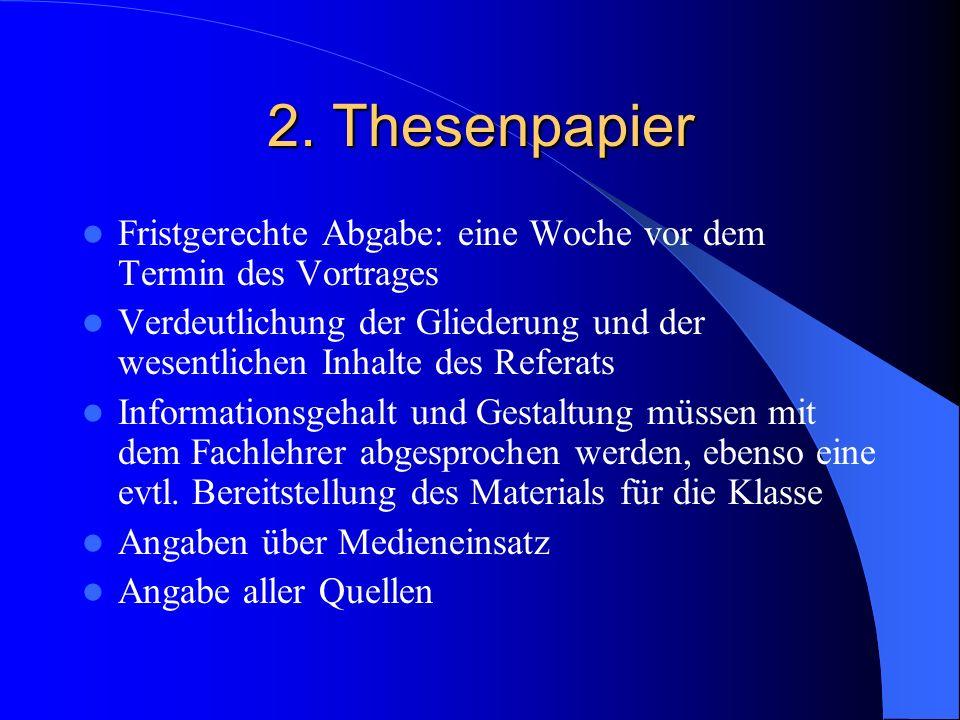 1. Inhalt Beachtung des Themas Folgerichtigkeit und Übersichtlichkeit im Aufbau Herausarbeiten einer Problemstellung bzw. Hervorhebung des Wichtigen B