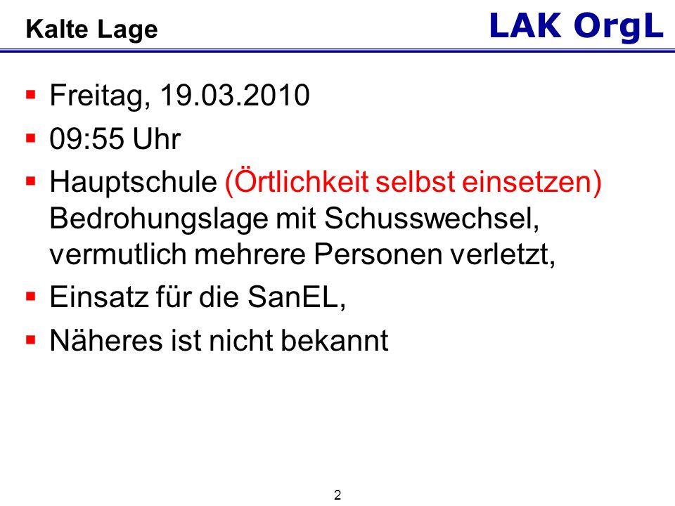 LAK OrgL 3 Kalte Lage Tatort Stadtplanauszug (kleiner Maßstab) z.