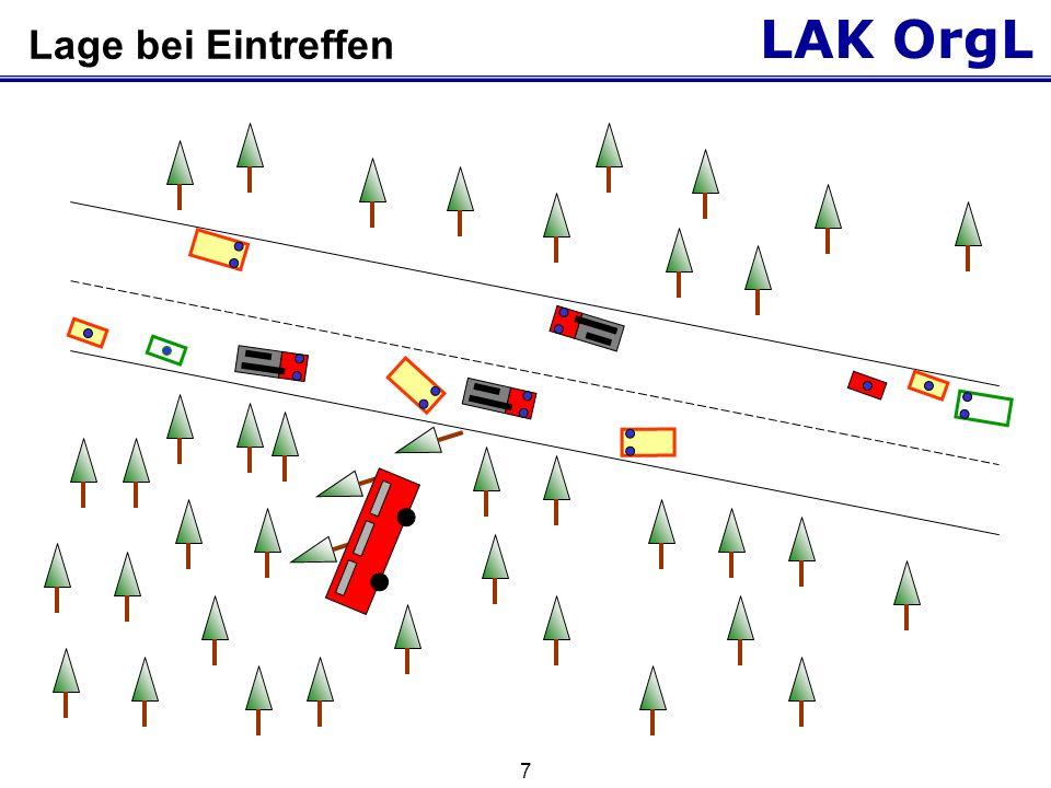 LAK OrgL 7 Lage bei Eintreffen