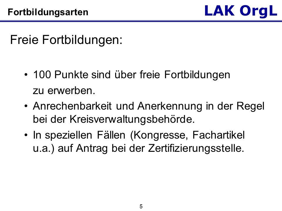 LAK OrgL 6 Punktevergabe