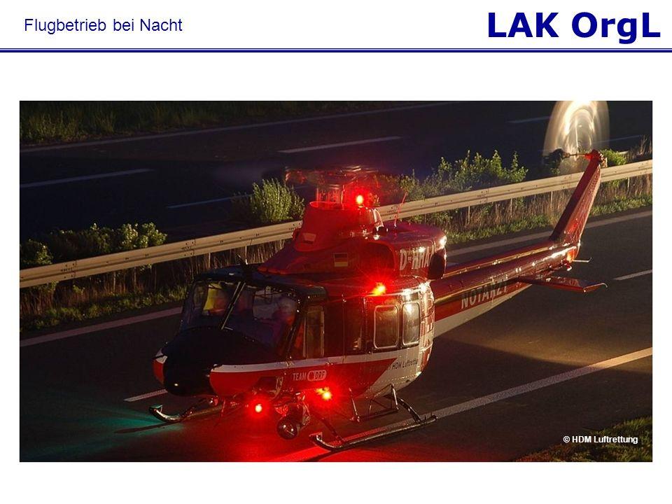 LAK OrgL Flugbetrieb bei Nacht © HDM Luftrettung