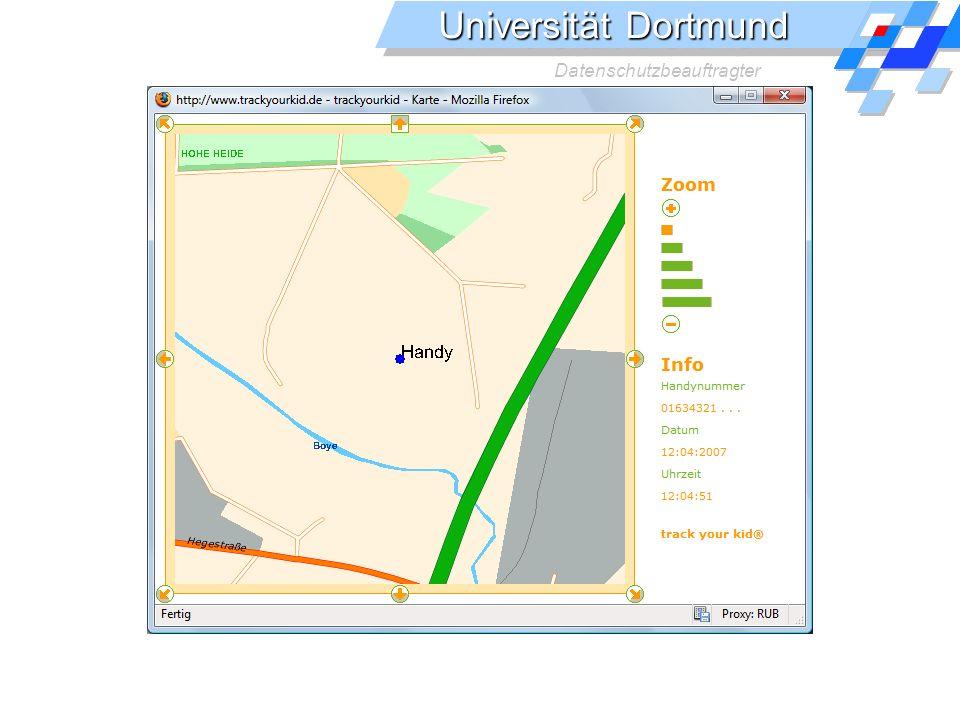 Universität Dortmund Datenschutzbeauftragter Handyortung