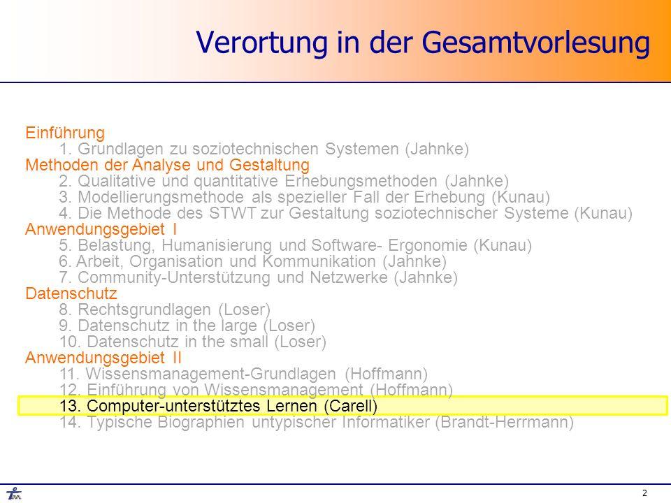 Informatik und Gesellschaft SS 2007 Dr.