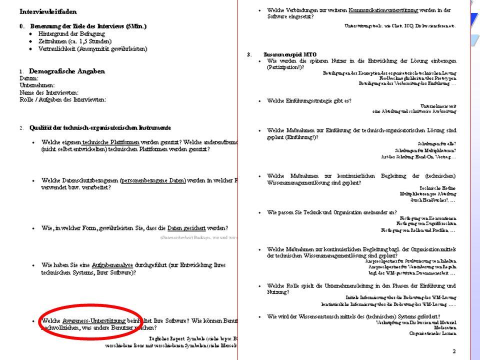 31 / 54 Universität Dortmund Dr. Isa Jahnke I&G Vorlesung Informations- und Technikmanagement (IMTM) 25.04.2007 Leitfaden