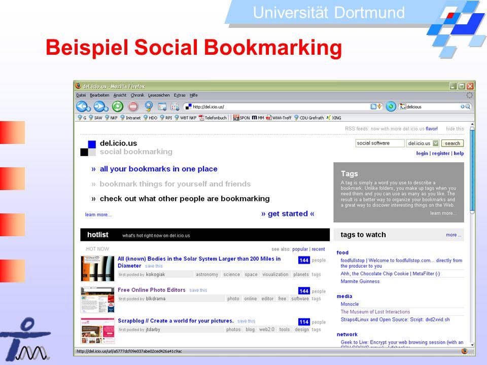 Universität Dortmund Beispiel Social Bookmarking
