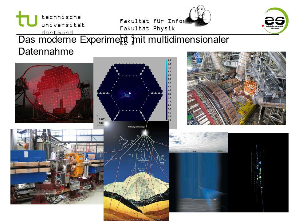 technische universität dortmund Fakultät für Informatik Fakultät Physik LS 8 ES 5 Das moderne Experiment mit multidimensionaler Datennahme