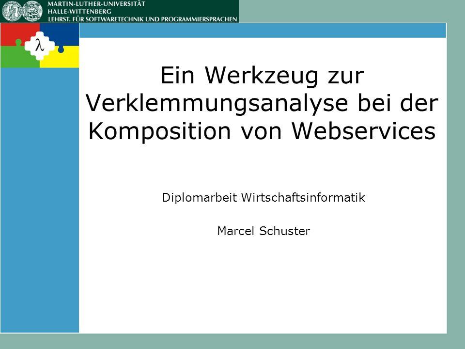 Ein Werkzeug zur Verklemmungsanalyse bei der Komposition von Webservices Diplomarbeit Wirtschaftsinformatik Marcel Schuster