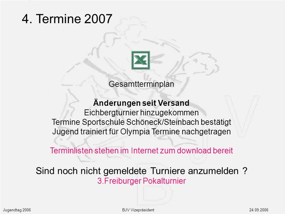 Jugendtag 2006 BJV Vizepräsident 24.09.2006 4.