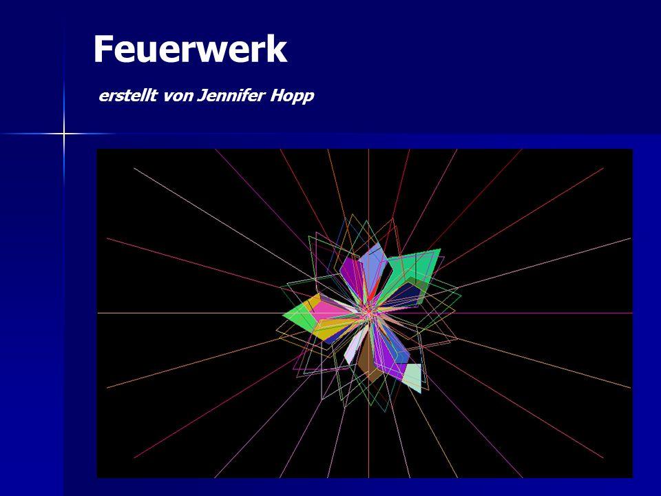 Feuerwerk erstellt von Jennifer Hopp