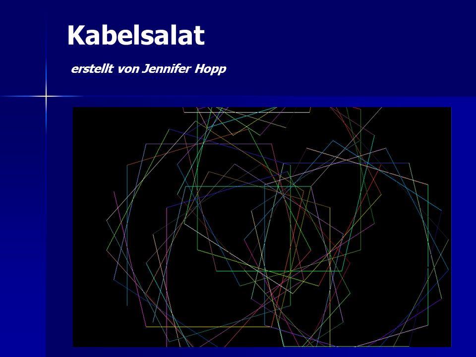 Kabelsalat erstellt von Jennifer Hopp