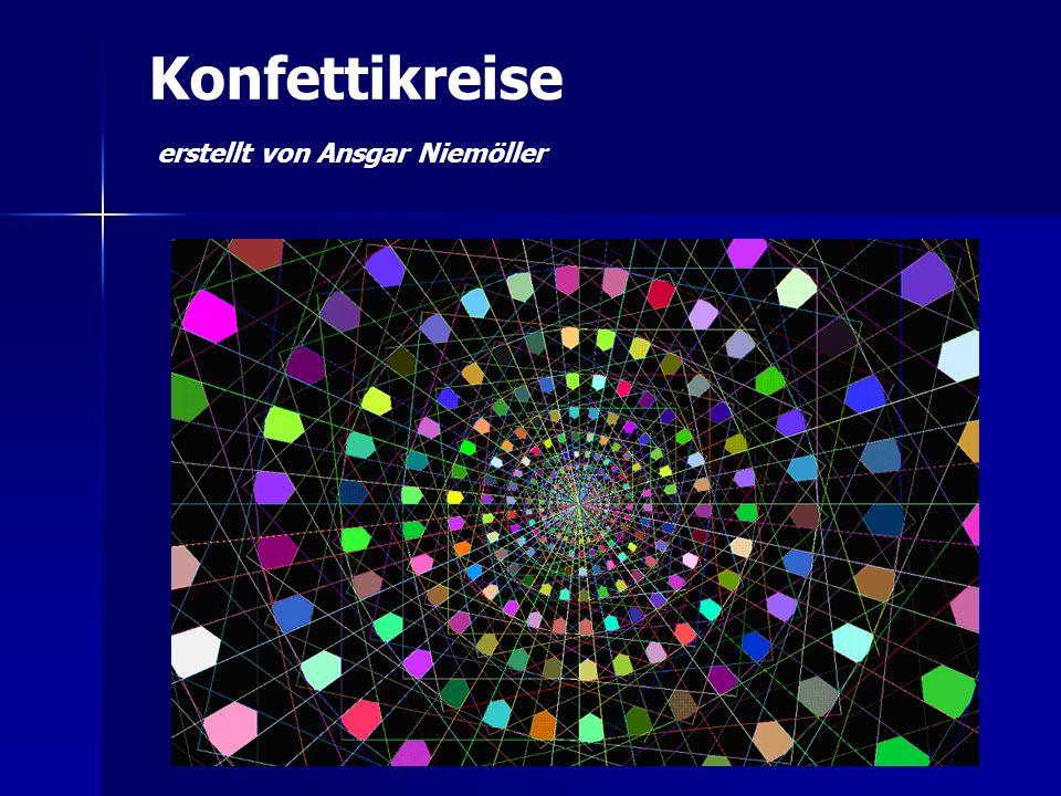 Konfettikreise erstellt von Ansgar Niemöller