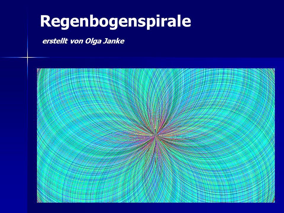 Regenbogenspirale erstellt von Olga Janke