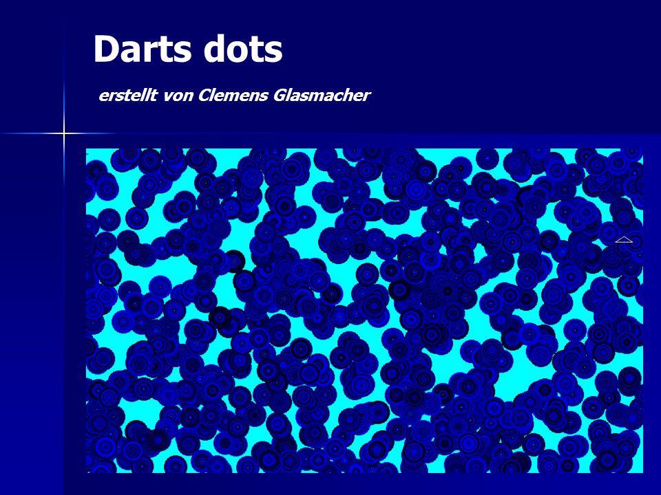 Darts dots erstellt von Clemens Glasmacher