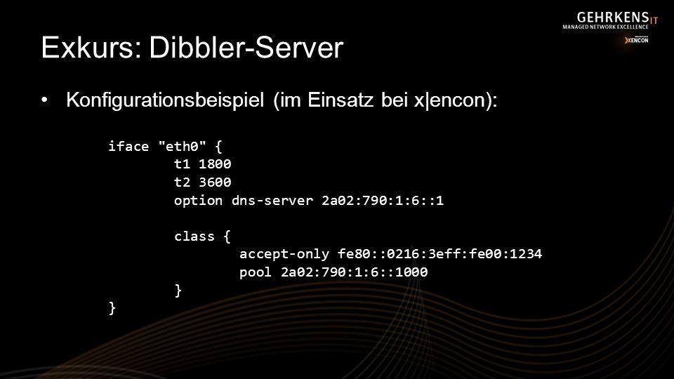 Exkurs: Dibbler-Server Konfigurationsbeispiel (im Einsatz bei x|encon): iface