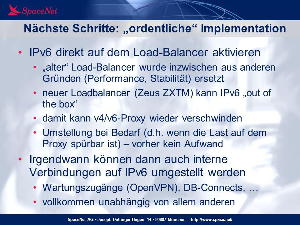 SpaceNet AG Joseph-Dollinger-Bogen 14 80807 München – http://www.space.net/ Statistiken – Web-Traffic
